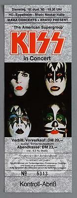 KISS - mega rare original Eppelheim, Germany 1982 FULL UNUSED concert ticket