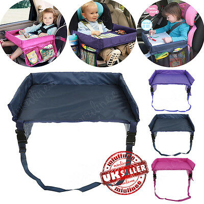 Kids Baby Waterproof Safety Snack Car Seat Table Play Travel Tray Drawing Board