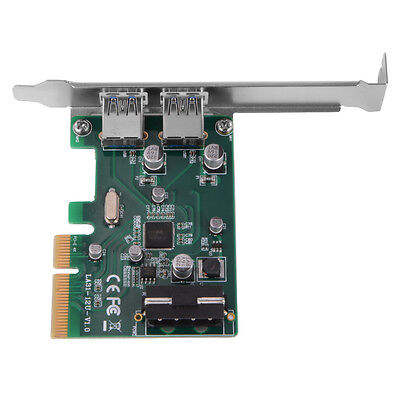 Suerspeed ASM1142 USB 3.1 2-Ports Type A PCIE Host Adapter Expansion Card AC476