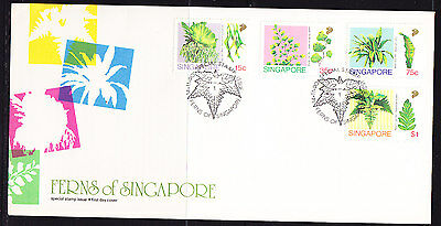 Singapore 1990 Ferns First Day Cover - Unaddressed
