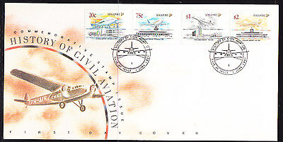 Singapore 1991 Civil Aviation First Day Cover - Unaddressed