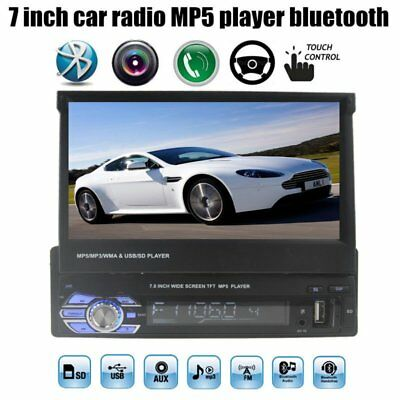 Bluetooth 1 Din 7 inch car Stereo MP4 MP5 player USB TF Radio Audio
