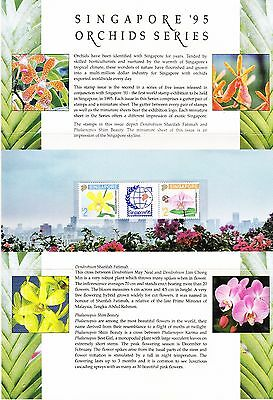 Singapore 1992 Orchids Stamp Pack