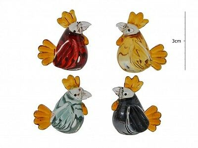 Handcrafted Lampwork Glass Chicken Figurine Ornament FREE P&P