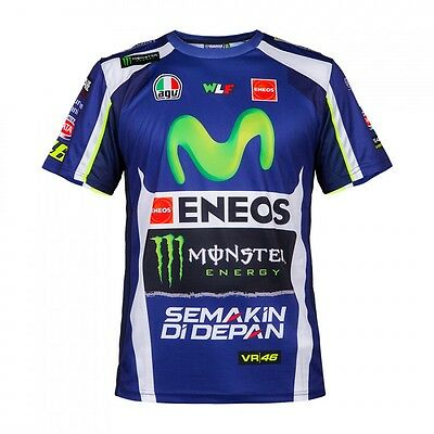 2016 OFFICIAL Valentino Rossi Yamaha 46 Moto GP SPONSOR T-Shirt MENS - NEW