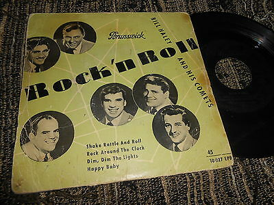 """BILL HALEY AND HIS COMETS Shake Rattle and Roll +3 EP 45 7"""" 1959 SPAIN edition"""