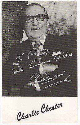 """Charlie Chester. Comedian. Hand Signed Autograph 7.1/2"""" x 4.3/4"""" Photograph"""