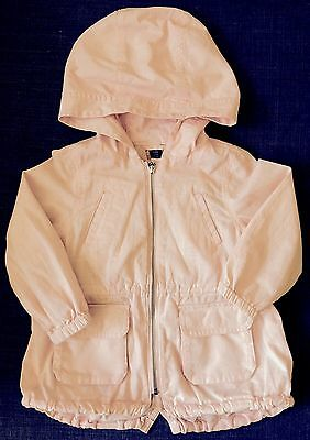 Baby Gap Girls Pink Hooded Jumper Coat Jacket. 100% Cotton. Size 2-3 years old