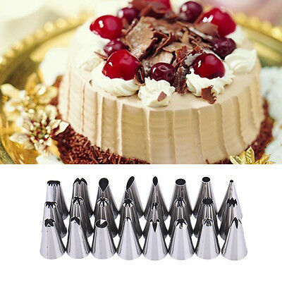 24pcs Pastry Cake Decorating Nozzles Tips Set Kit for Icing Piping Bag Tool Pen
