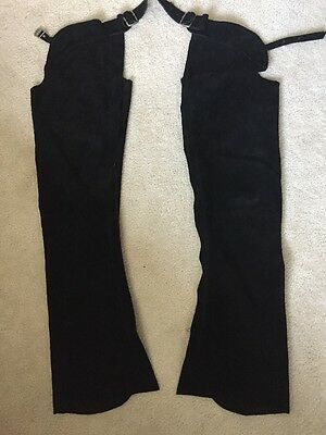 Whitman black suede chaps - used