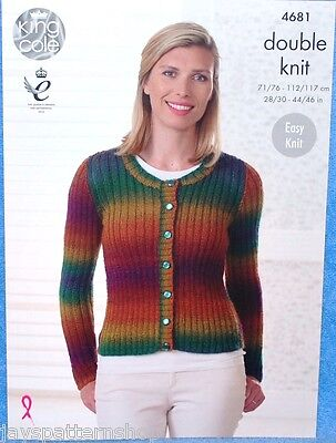 Ladies Double Knit Easy Cardigan & Sweater Knitting Pattern 28 - 46 Inch
