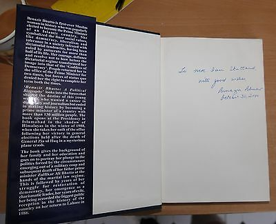 Benazir Bhutto autographed book