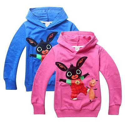 BING BUNNY & FLOP HOODIE - NEW WITH TAGS - BLUE OR PINK - Ages 2-6 years