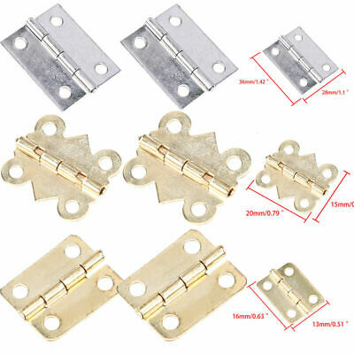 10pcs/Set Mini Small Metal Hinges For Dollhouse Miniature Cabinet Furniture