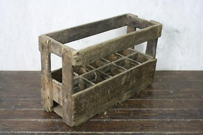 Vintage Wooden French Aubree Wine Bottle Crate #548