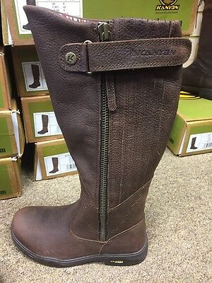 KANYON Extra Wide GORSE X RIDER WATERPROOF COUNTRY RIDING BROWN Boots size 4 37