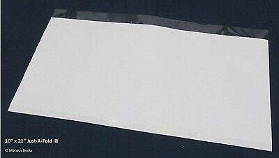 """10 pack 10""""x21"""" Brodart Just-a-Fold III Archival Book Jacket Covers super clear"""