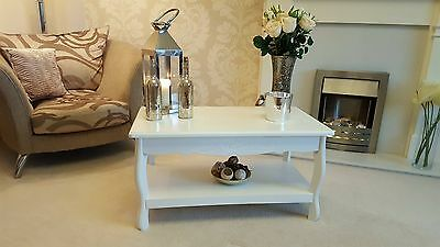 Shabby Chic Vintage White French Coffee Table Side Table Living Room End Table
