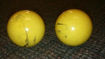 Antique Pair of OLD Cue Balls Vintage BILLIARDS  POOL SNOOKER