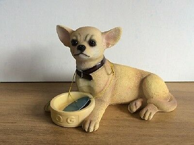 Chihuahua with Bowl ornament/figurine by Leonardo Collection New and Boxed
