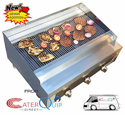 3 Burner Gas Char grill Charcoal Grill  BBQ Grill  Heavy Duty For Commercial Use