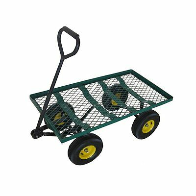 ALEKO Farm Heavy Duty Flatbed Steel Utility Garden Mesh Cart 800 lb Capacity