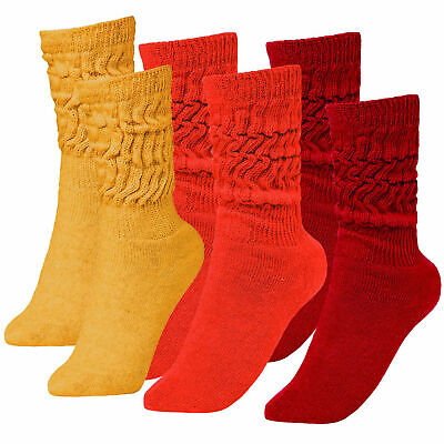 BRUBAKER 6 Pairs Slouch Socks for Fitness Workout Yoga Gym Wellness Many Colours