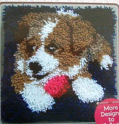 "Latch Hook   Pillow Kit  ""a Puppy"" Latch Tool Included"