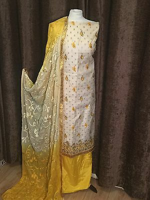 indian pakistani designer Wedding salwar kameez UNSTITCHED