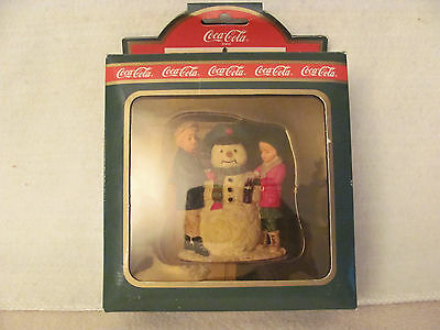 Coca Cola Town Square Collection Thirsty the Snowman 1992 (NOS)