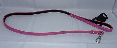 Brand New High Quality Pets At Home Pink Snake Print Luxury Dog Lead Size S
