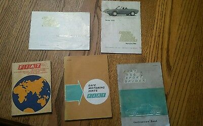 1970 fiat booklets 850 sports spider instruction book with supplement 3 others