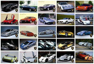 Lamborghini Postcard collection - (50 differents) - size: 4x6'