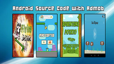 mobile app for sale,  Swing Copters clone plus 3 Android games source code