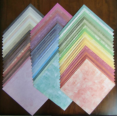 """LOT of 59 Sheets of 12"""" x 12"""" Scrapbook Paper from DCWV TIMELESS TEXTURE STACK"""