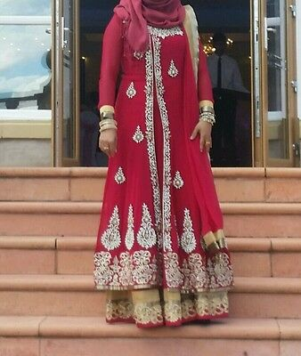Traditional pakistani anarkali dress,  gown