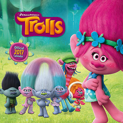 TROLLS Dreamworks Official 2017 Square Wall Calendar - BRAND NEW  (SKU 272)
