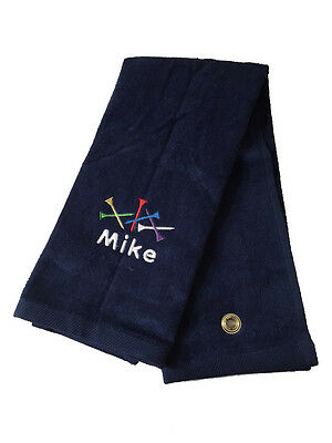 Personalized Golf Towel / Golf Tee / Tri Fold / Velour Terry Towel
