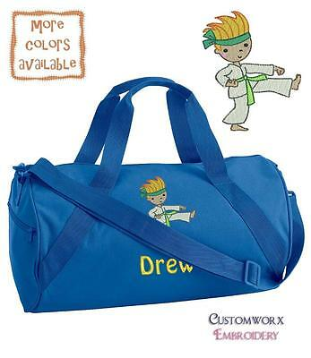 Personalized Embroidered Karate Duffle Bag - Toddler boys Children's gi belt