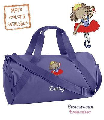 Personalized Embroidered Ballet Dancer Duffle Bag-Toddler Girl Children's dance2