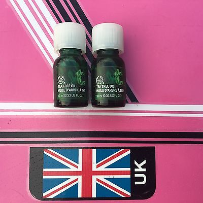 The Body Shop Tea Tree Oil  Two 10ml Bottles