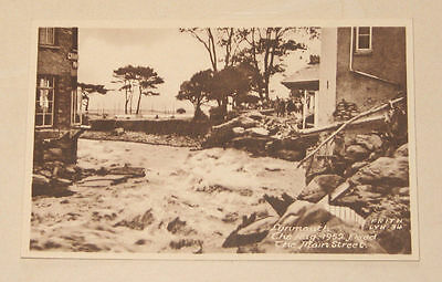 6 postcards of Lynton & Lynmouth floods 1952