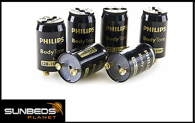 10 x PHILIPS BODYTONE 120 /180W SUNBED STARTERS FOR TANNING LAMPS TUBES