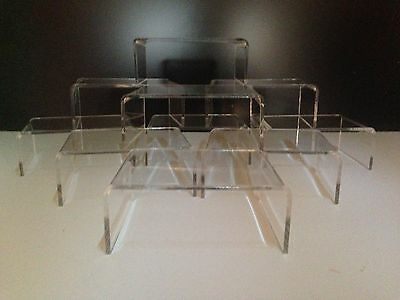 10 Pack Clear Acrylic,perspex Stands,risers,display Stands,plinths,shop, (103) )