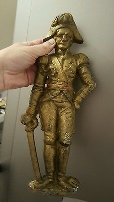 Admiral Lord Nelson gilt Cast Iron Door stop