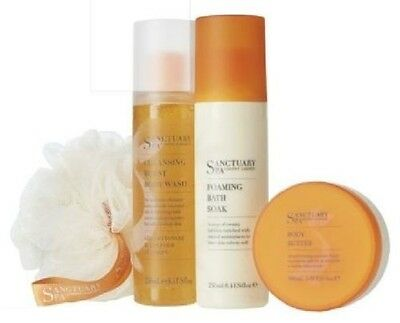 New Sanctuary Spa Take A Little Time For You Body Butter/Wash/Bath Soak Gift Bag