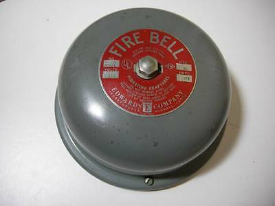 "Vintage Edwards Company Fire Bell Vibrating Adaptabel #326 7"" Steampunk #2"