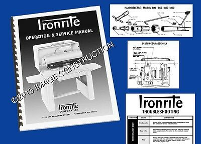 Ironrite Operation & Service Manual - Troubleshoot And Repair - 32 Pages!
