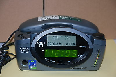 ConAir CID400 AM/FM Clock Radio w/ Phone with Caller ID Excellent Condition!