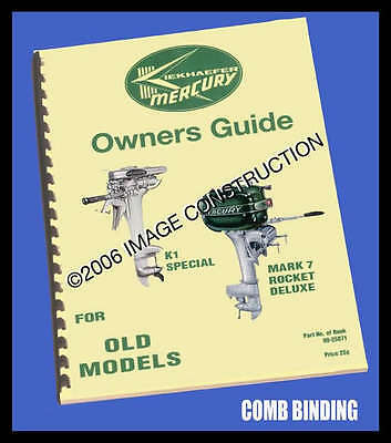 Old Mercury Outboard Owner's Manual - for many models!